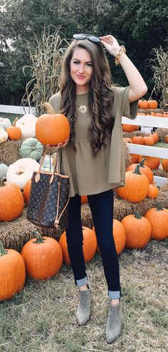Fall outfit inspiration -what to wear to the pumpkin patch