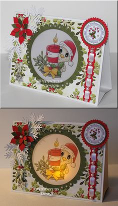 FREE CUT FILES  LOTS OF FORMATS light up Christmas tent card......Vorlagen/Templates - Peppercus-Design