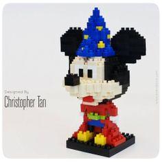 nanoblock Mickey Mouse from Fantasia