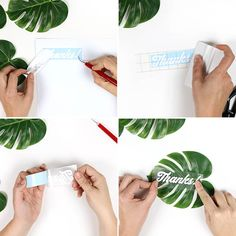DIY Tropical Party Favor Gift Bags - how to apply vinyl decal to faux tropical leaves : DIY Tropical Party Favor Gift Bags - how to apply vinyl decal to faux tropical leaves Tropical Home Decor, Tropical Colors, Tropical Pattern, Tropical Party, Tropical Houses, Tropical Interior, Tropical Leaves, Tropical Furniture, Pool Party Favors