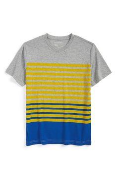 Boy's Tucker + Tate 'Vance' Stripe V-Neck T-Shirt