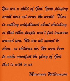 You are a child of God. ~~I am a Child of God Christian