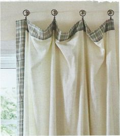 Cute idea for hanging curtains for Unusual ways to hang curtains
