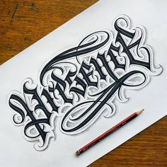 Tattoo Lettering Design, Graffiti Lettering Fonts, Chicano Lettering, Hand Lettering, Ma Tattoo, Tattoo Script, Tattoo Fonts, Old English Tattoo, Word Tattoos