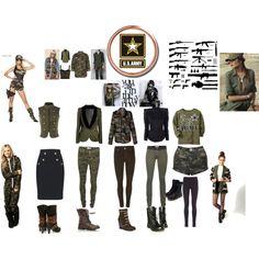 """""""Army Fatigue Fashion Style"""""""