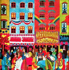 Giclee Print: A Saturday Morning from 'Carnaby Street' by Tom Salter, 1970 by Malcolm English : London Illustration, Illustration Art, Illustrations, Swinging London, Carnaby Street, History Images, London Art, London Style, Hippie Art