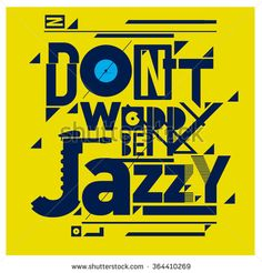 Editable vector jazz poster artwork  - stock vector