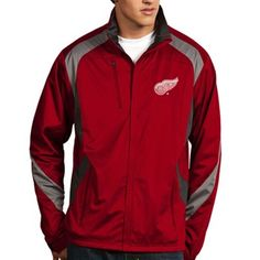 Mens Detroit Red Wings Majestic Black Interference Full Zip Hoodie ...