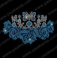 Custom Rinestone Tansfers Crown Hot Fix Motif wholesale 30PCS LOT. Iron On TransferHeat  TransferRhinestone ... 8acc347d4c44
