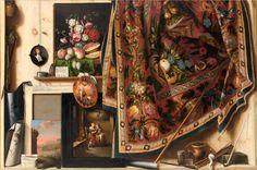 Trompe l'oeil. A Cabinet in the Artist's Studio   Cornelius Norbertus Gijsbrechts - Europeana