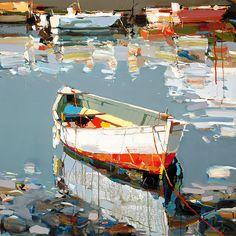Colorful Boat I, Landscape Art, Canvas Print Wall Art Decor Ready to hang Canvas Wall Art, Art Painting, Landscape Paintings, Fine Art, Painting, Boat Art, Abstract, Landscape Art, Abstract Painters