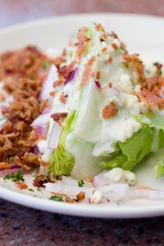 """Condiment"" Iceberg Wedge Salad"