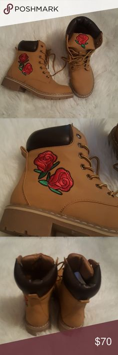 Embroidered Boots NEW! Brand new,  never worn. Only tried on. I will ship with box and tissue paper. Size 6 however these run just a little big. Listed as a 6.5 for this reason! Shoes Ankle Boots & Booties