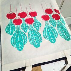 Radish Silkscreen print with love Atelier Summercity - Brest Sérigraphie artisanale