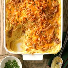 Mashed Potato Recipes, Cheesy Potatoes, Potato Dishes, Food Dishes, Side Dishes, Main Dishes, Baked Potatoes, Taste Of Home, Vegetarian