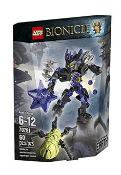 Defend the underground mine with the Protector of Earth! Defeat the Skull Spider with the LEGO BIONICLE Protector of Earth with mask pop-off trigger spinning Star Drill and rapid shooter. Underground...