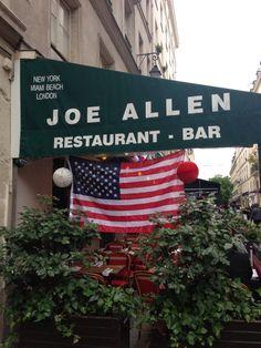 Joe Allen à Paris, Île-de-France