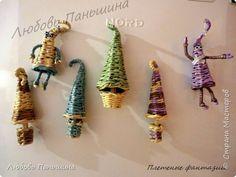 Мастер-класс Поделка изделие Новый год Плетение Елочки - магнитики Бумага Магниты Трубочки бумажные фото 1