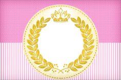 Convite, Moldura e Cartão Coroa de Princesa: