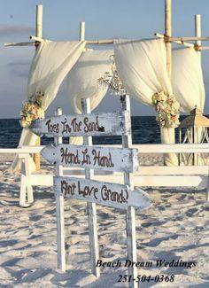 Alabama Beach Weddings - 251-504-0368 : New Shabby Chic Beach Weddings