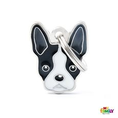 Show details for Boston Terrier Dog Tag Free incision  www.myfamily.it