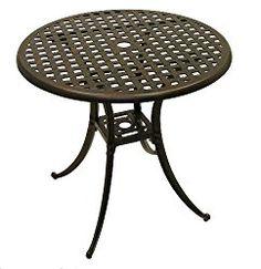 ATC Design Antique Bronze Solid Cast Aluminum Table, 30″ D x 28″ H