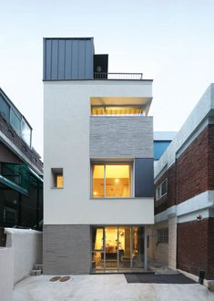 Architecture Design, Facade Design, Duplex House Design, Modern House Design, Building Facade, Building A House, Style At Home, Mickey House, Warehouse Living