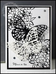 """- Set tampons """"Ce que j'aime"""" Card Making Inspiration, Making Ideas, Scrapbooking Original, Stampin Up Karten, Card Making Templates, Birthday Scrapbook, Stamping Up Cards, Butterfly Cards, Mothers Day Cards"""