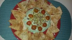 Musse de albhaca con tortillas doradas