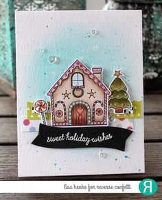Christmas Snow House Scrapbooking Album Card Decor Diary Craft Clear Stamps Eb