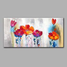 Peint à la main A fleurs/Botanique Horizontale,Moderne Un Panneau Toile Peinture à l'huile Hang-peint For Décoration d'intérieur de 2017 ? €60.61