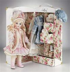 Cecelia Bru Trunk Doll, Ltd Ed of 150 that Mary Benner did for Marie Osmond's doll line. I am fortunate to own this beauty!
