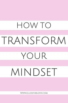 Your thoughts create your reality - everything you think you will feel. If you transform your mindset you will transform your life! Here are 5 ways you can transform your mindset today so that you can start living your dream life. Positive Mindset, Positive Vibes, Live For Yourself, Finding Yourself, Self Development, Personal Development, Leadership Development, Transform Your Life, Dream Life