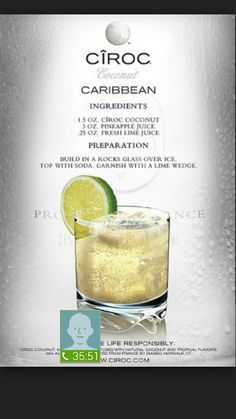 Pineapple Ciroc with Soda, Pineapple Juice & Fresh Lime Juice Sweet Alcoholic Drinks, Vodka Cocktails, Cocktail Drinks, Summer Cocktails, Vodka Sangria, Alcohol Drink Recipes, Vodka Recipes, Margarita Recipes, Pineapple Cocktail