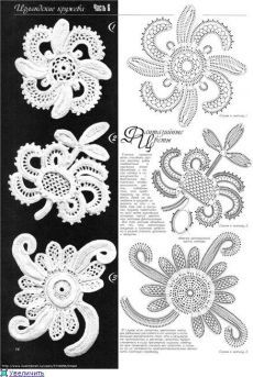 IRISH CROCHET LACE--looks more like Romanian point lace to me. Not sure that I've ever seen this braid in Irish crochet before Irish Crochet Tutorial, Irish Crochet Patterns, Crochet Diagram, Freeform Crochet, Crochet Motif, Crochet Stitches, Irish Crochet Charts, Doilies Crochet, Doily Patterns