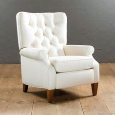 Ballard Designs Morrison Tufted Recliner 2 of these would be nice in the living room or the playroom/study! My Living Room, Living Room Chairs, Home And Living, Living Room Furniture, Dining Chairs, Chair Makeover, Reclining Sofa, Recliner Armchair, Swivel Chair