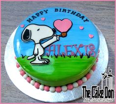 """The SNOOPY """"Love Bubble"""" Birthday Cake  by THE CAKE DON"""