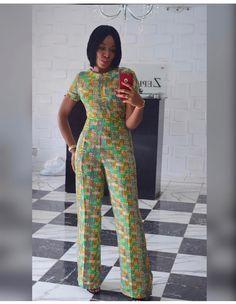 Levictoria par zephans&co African Fashion Ankara, Latest African Fashion Dresses, African Print Fashion, African Wear, African Attire, Short African Dresses, African Print Dresses, African Print Jumpsuit, Fashion Pants