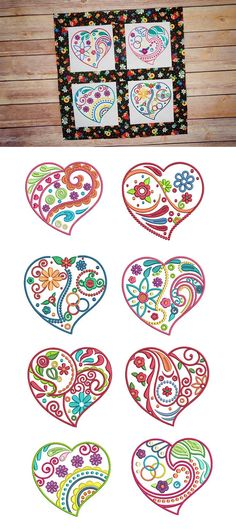Our Whimsical Doodle Hearts design set is made up of 8 Beautifully simple doodled hearts in 4 sizes each! 4x4, 5x7, 6x10 and 8x8. Available for instant download at designsbyjuju.com