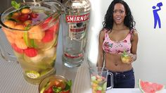 Vodka Melon Sangria - Tipsy Bartender1 Bottle White Wine 2 oz. (60ml) Peach Schnapps 1 oz. (30ml) Triple Sec Top with Sprite and Pineapple Juice Pineapple Chunks Orange Slices Grapes Strawberries