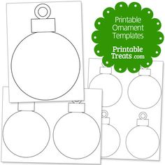 Printable Ornament Templates from PrintableTreats.com