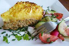 Fotorecept: Mäsovo zeleninový koláč Types Of Food, Meatloaf, Lasagna, Baked Potato, Quiche, Risotto, Zucchini, Potatoes, Baking