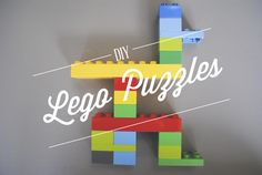 DIY Lego (and other materials) Puzzles. Great for hand-eye coordination and the young builders in our lives. Lego Activities, Craft Activities For Kids, Toddler Activities, Projects For Kids, Crafts For Kids, Lego Club, Lego For Kids, Creative Play, Play To Learn