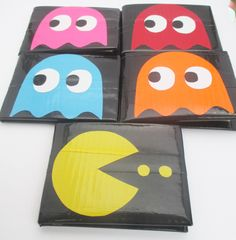 Pacman+Duct+Tape+Wallet+by+AvaFusion+on+Etsy