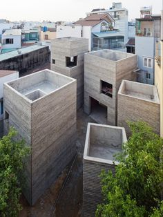 Masaaki Iwamoto's work at Vo Trong Nghia Architects in collaboration with Vo Trong Nghia and Kosuke Nishijima: House for Trees (Ho Chi Minh ...