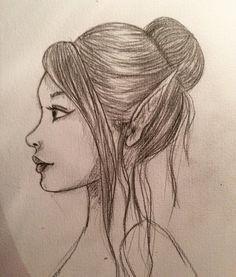 Elfe profil  by melnina34 on @DeviantArt