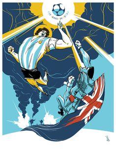 Diego Maradona... Hand of God.  wondersoccertowel@gmail.com