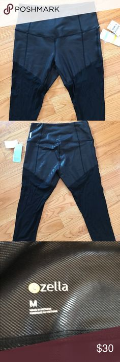 NWT Zella high waisted mesh crop leggings size M Very cool leather look top with mesh legs. Bought these at the Nordstrom anniversary sale this year but I own a lot of leggings and just haven't worn them yet. Size M with a faux-leather look at the waist and butt. Mesh legs are very cool! Zella Pants Leggings