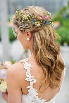 Are you looking for a charming hairstyle for the big day? We show you the most beautiful bride hairstyles From… Are you looking for a charming hairstyle for the big day? We show you the most beautiful bride hairstyles From… Wedding Hair Flowers, Wedding Hair And Makeup, Wedding Hair Accessories, Flowers In Hair, Bridal Hair, Hair Pieces For Wedding, Fall Flowers, Bridal Headpieces, Rustic Wedding Hairstyles