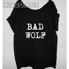 Wolf Tshirt Off the Shoulder Over Sized Graphic Tee ($20) ❤ liked on Polyvore featuring tops, t-shirts, shirts, black, women's clothing, crewneck t-shirt, loose t shirt, graphic t shirts, black shirt and t shirts